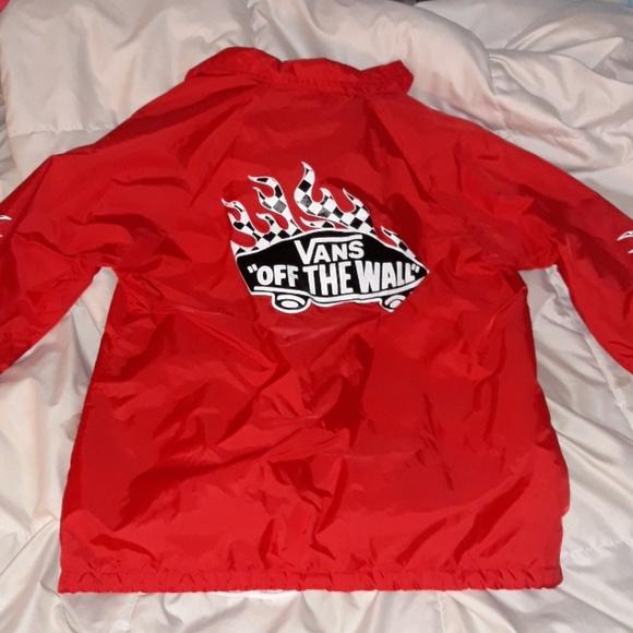 Coats   Vans Red Bomber Jacket   Poshmark